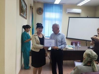В ГП №25 проведена встреча с председателем КОЗ Медеуского района Измухамбетовым Т.А.